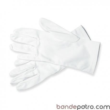 Gants de cérémonie tissu blanc