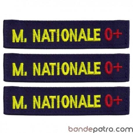 Lot de 3 bandes patronymiques marine nationale Rhésus
