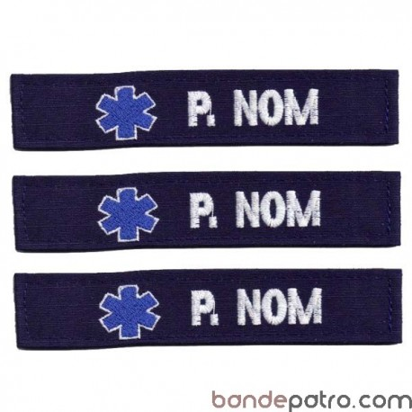 Lot de 3 bandes patronymiques Ambulance