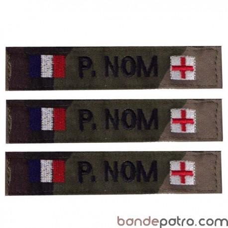 Lot de 3 bandes patronymiques Double drapeau