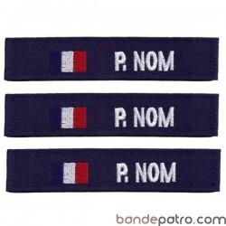 Bande patro tissu bleu marine drapeau France