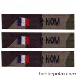 Bande patro tissu cam CE drapeau