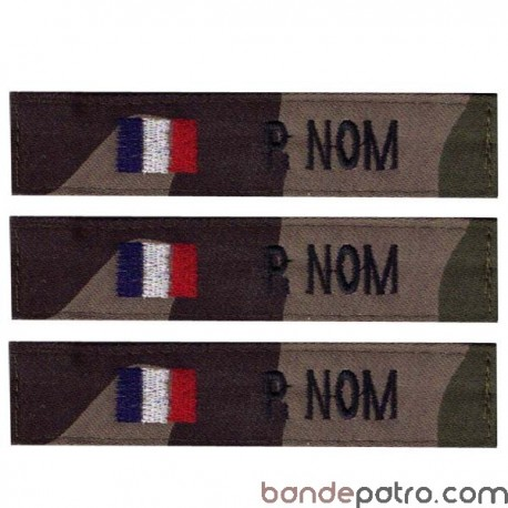 Bande patro tissu cam CE drapeau pays