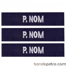 Bande patro tissu bleu