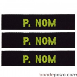 Bande patro tissu noir fil fluorescent