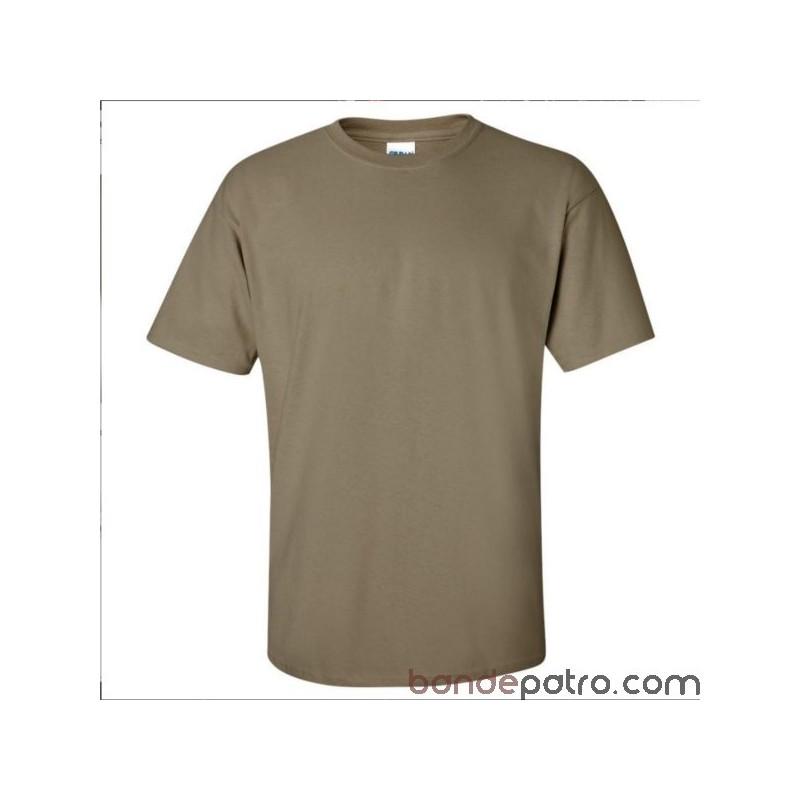 tee shirt militaire fran ais couleur coyote sable sur. Black Bedroom Furniture Sets. Home Design Ideas