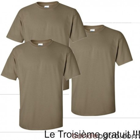Lot x3 Tee Shirt Militaire