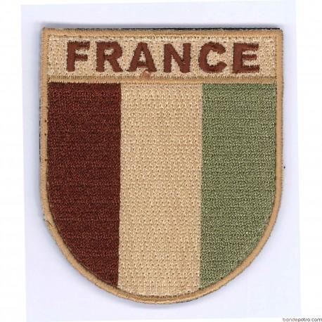 Ecusson France coloris désert