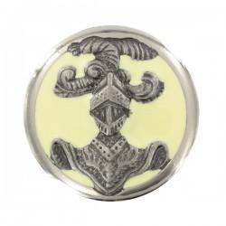 Insigne de collet ABC Dragon argent