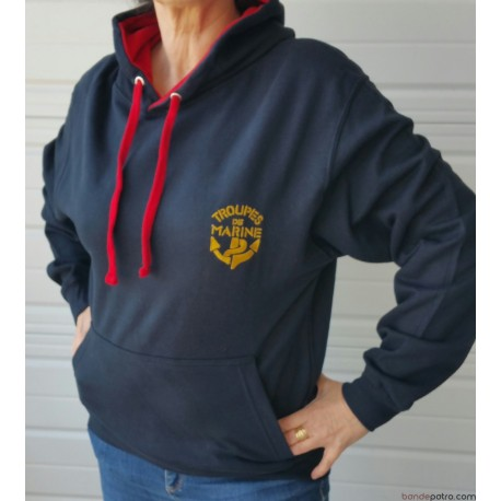 Sweat-Shirt Capuche Rouge TDM