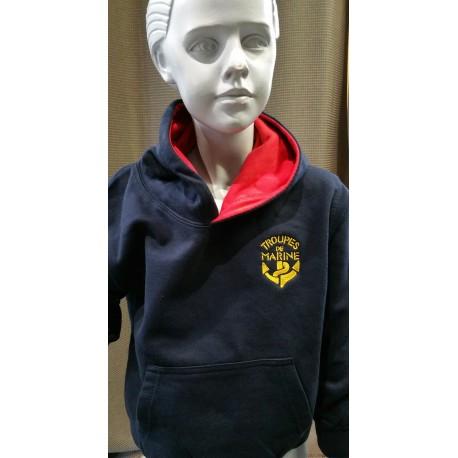 Sweat-Shirt Capuche Rouge TDM Enfant