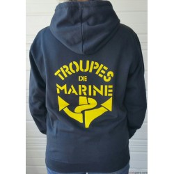 Sweat Capuche Troupe de Marine