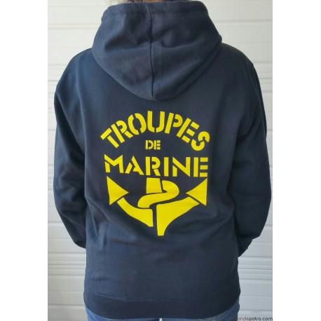 Sweat Capuche Troupe de Marine