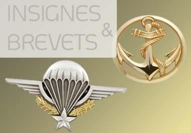 Insignes de bérets, brevets de poitrine, insignes de collets, déco officielles et pin's